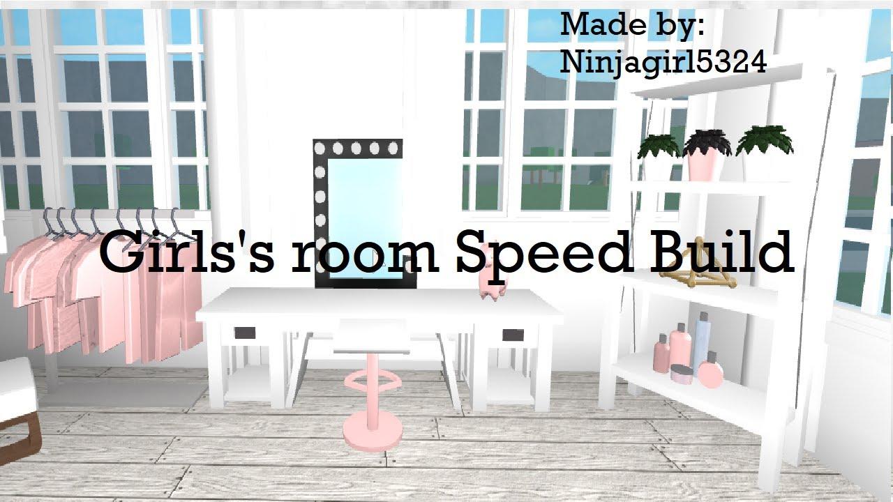 Welcome To Bloxburg Girls's Bedroom Speed Build