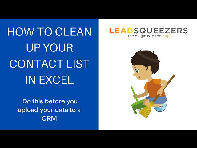 How to clean up your contact list in Excel