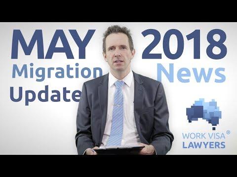 Australian Immigration News Video May 2018 -SAF, TSS 482 , Regional Visas