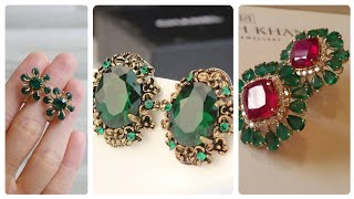 Most Marvellous All Styles of Ruby Earring Designing With D Stones/Stunning Earrings Designs