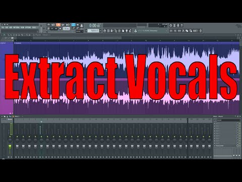 How to extract vocals from a track