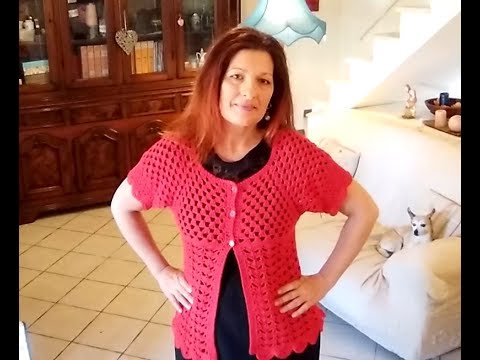 0fac7f491 SUMMER TOP DOWN CARDIGAN crochet TUTORIAL ANY SIZE - YouTube