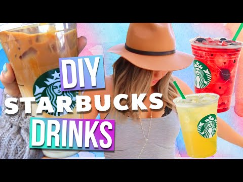 DIY Starbucks Drinks For Summer! 3 Drink Ideas!