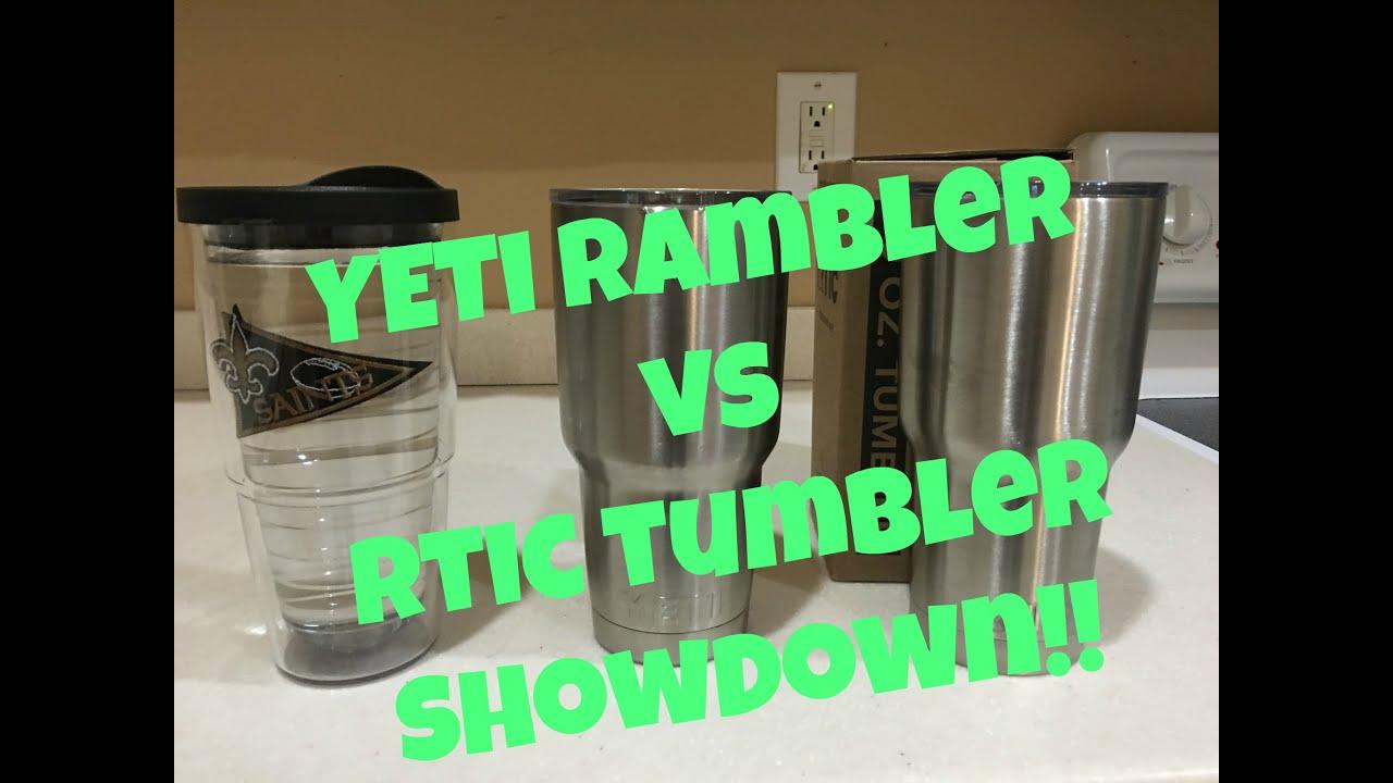 RTIC Tumbler vs YETI Rambler vs Tervis Tumbler Showdown