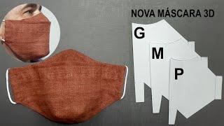 Máscara 3D em Novo Formato mais Confortável