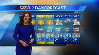 Video: Sunny day ahead; warmup for weekend