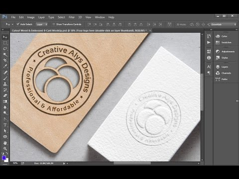 Create Cutout & Embossed Logo Mockup in Photoshop