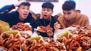 CRAWFISH MUKBANG W. JAYCO & SANTEA | NEW HOUSE??