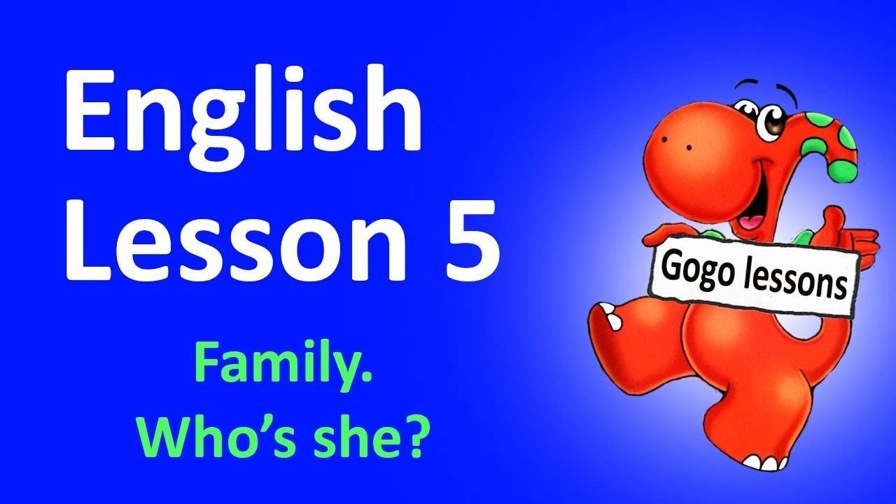 English In Italian: English Lesson 5 - Family Vocabulary, Family Song