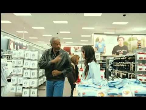 Morgan Freeman Visits Target
