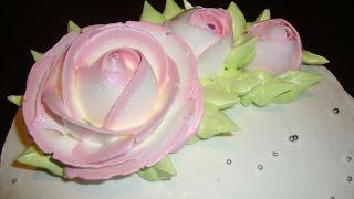 1.3. Очень просто. Розы из крема