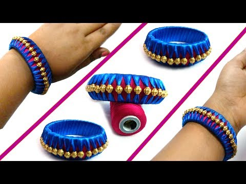 How to make Latest Designer Silk thread bangles at home I Party wear bangles I  Today Fashion