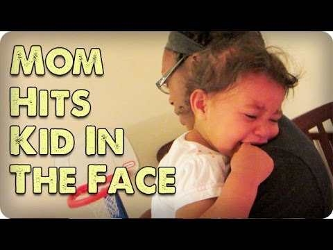 Mom Hits Kid In The Face!!!