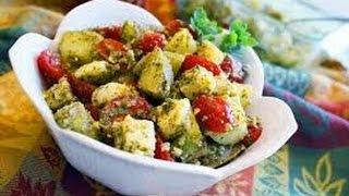 Ricetta Estiva Insalata Caprese Al Pesto,summer Recipe Caprese Salad With Pesto,夏季食譜卡普雷塞沙拉與香蒜