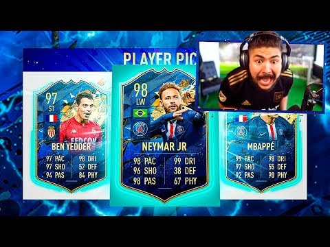 OMG I PACKED 98 TOTS NEYMAR!! BEST PLAYER PICKS!! FIFA 20