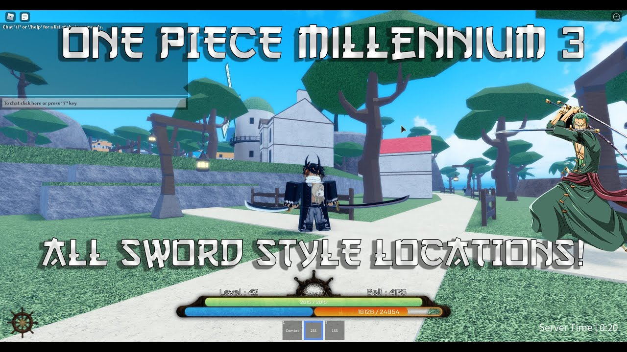One Piece Millennium 3 All Sword Style Locations Youtube