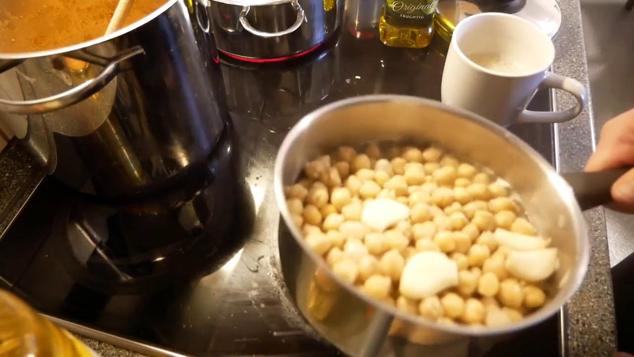 Kichererbsen Hummus schnell und einfach selber kochen und schmeckt super lecker!