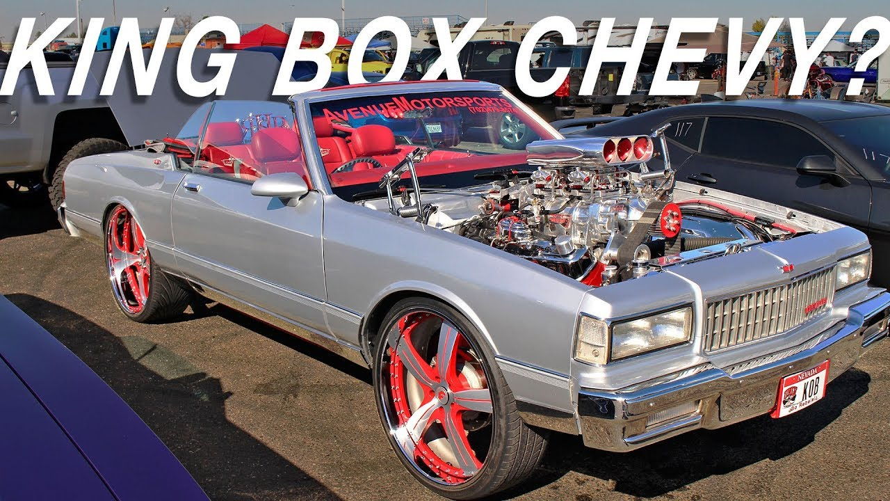 CRAZY Supercharged Convertible Box Chevy on Forgiatos  - Clash of the Titans Car Show