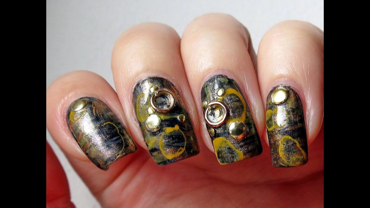 Steampunk nail art bornprettystore nail art studs and round steampunk nail art bornprettystore nail art studs and round shape decorations prinsesfo Gallery