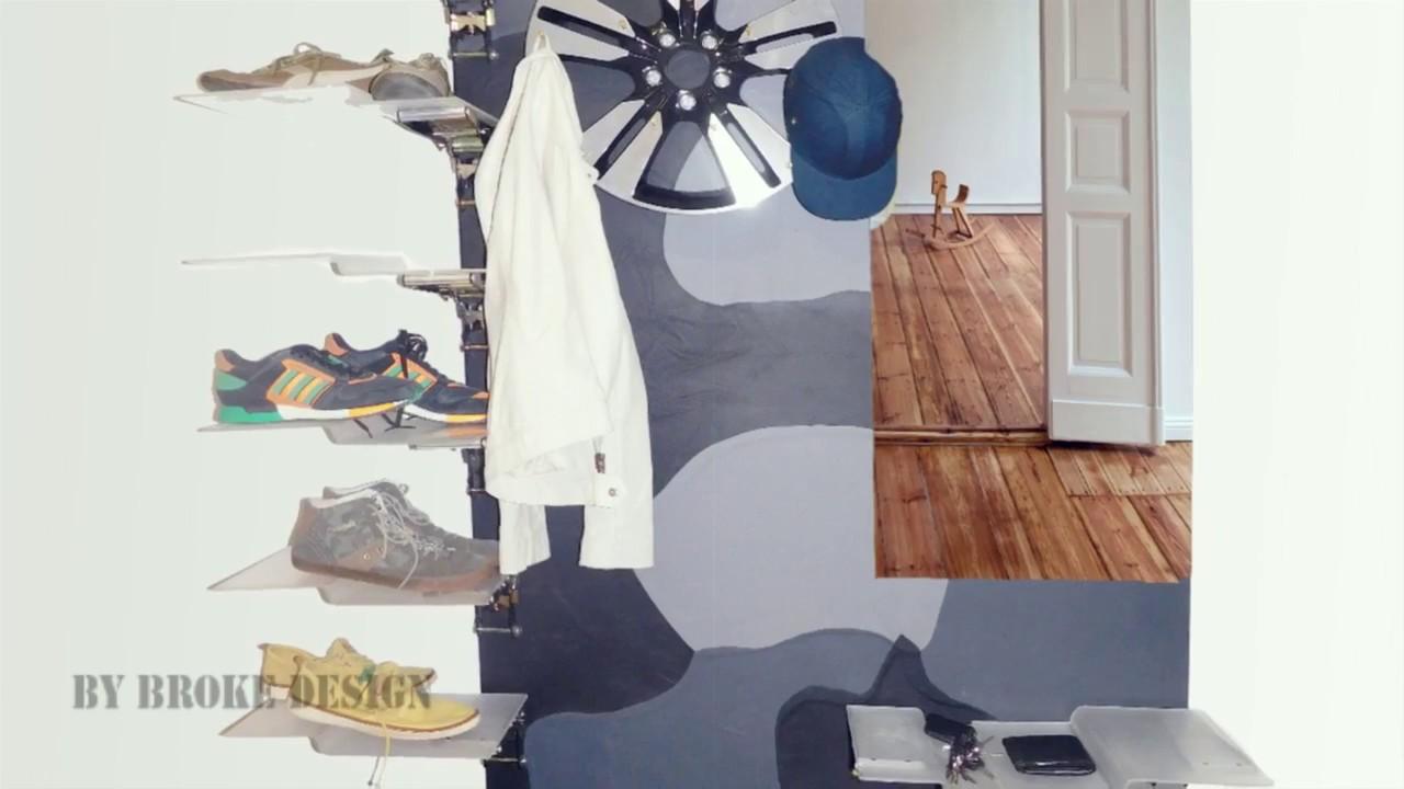 design garderobe shoe rack for men m nner schuhregal. Black Bedroom Furniture Sets. Home Design Ideas