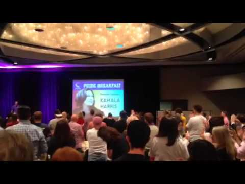 Kamela Harris Gets Standing Ovation At Pride Breakfast