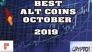 Top 10 ALT COINS TO BUY IN September and October  2019