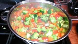 My Vegetable Stir Fry With Garlic Chili Sauce.