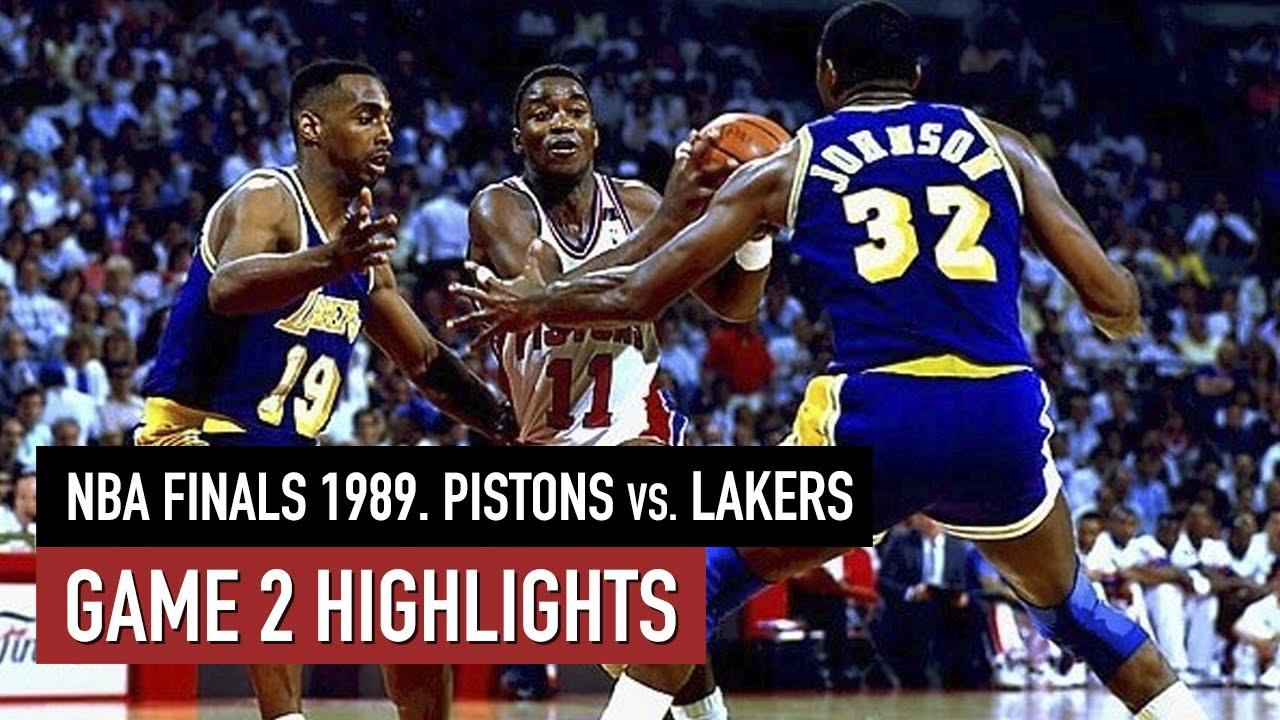 Throwback NBA Finals 1989. Detroit Pistons vs LA Lakers Game 2 Full Highlights HD