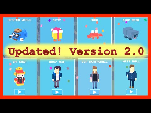 Unlock ☆ Original 8 ☆ Mystery Secret Characters Crossy Road UPDATED ✿ Hipster Whale to Cai Shen ☆