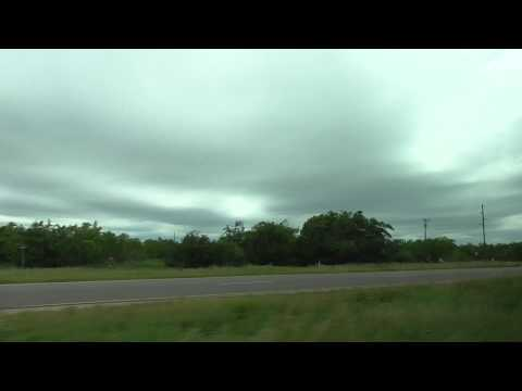 Kmart School bus Sweetwater Texas storm chase 12May15 325p