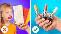 EDIBLE LIPSTICK CLEVER PARENTING HACKS WITH FOOD