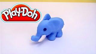 Play-Doh Blue Elephant - How to make a Play-Doh Elephant step-by-step