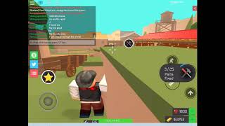 Insane kill streak in bandit simulator roblox (109 kills streak)