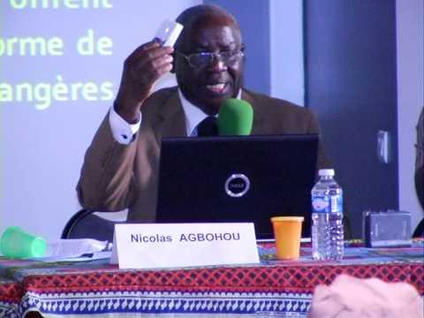 NICOLAS AGBOHOU (GRANDE CONFERENCE SUR LE FRANC CFA A MARSEILLE)