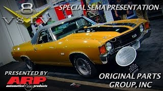 Fresh 1971 El Camino and Olds 442 Convertible Restorations from OPGI at SEMA 2015 Video V8TV