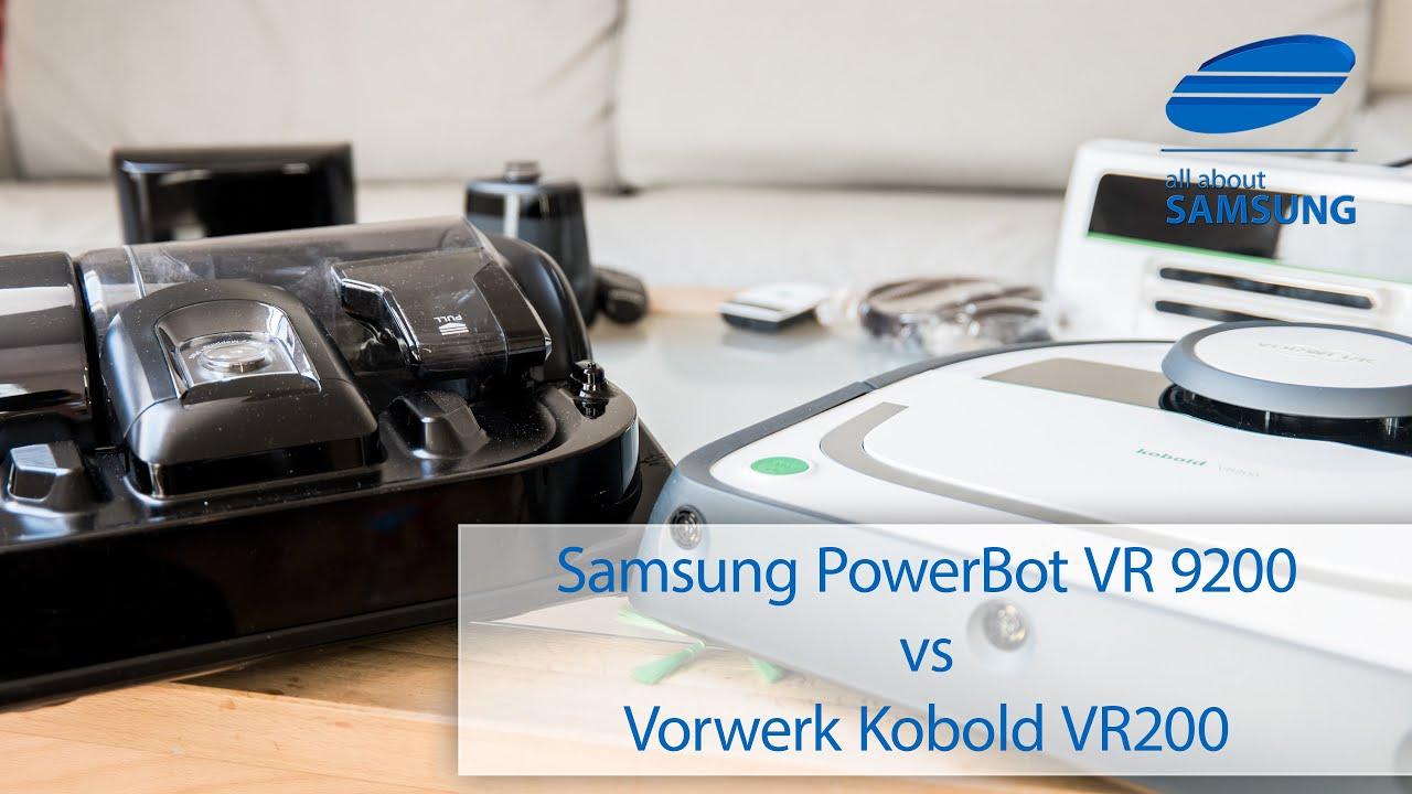 samsung powerbot vr9200 vs vorwerk kobold vr200 saugroboter test youtube. Black Bedroom Furniture Sets. Home Design Ideas