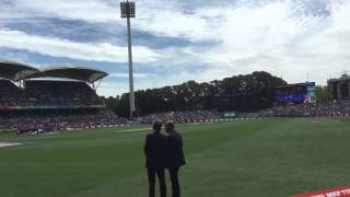 India vs Pakistan cricket world cup 2015 indian national anthem Adelaide oval