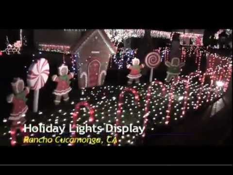 Christmas Lights Display On Thoroughbred And Jennett Streets In