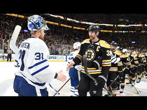 Bruins, Maple Leafs shake hands after Boston advances with Game 7 win