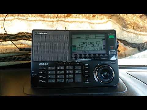 Radio Thailand World Service on Sangean ATS-909X Dec 19, 2018 Sangean ATS-909X shortwave radio