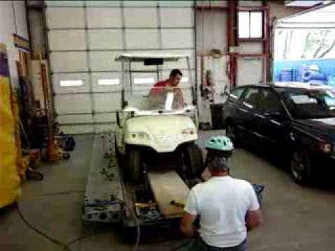 golf cart frame pull - YouTube