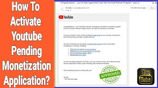 How To Activate Youtube Pending Monetization Application in Backlog?