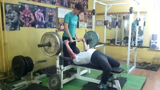 Герман Барабанов. 78 лет. 80 кг. Жим штанги 130 кг