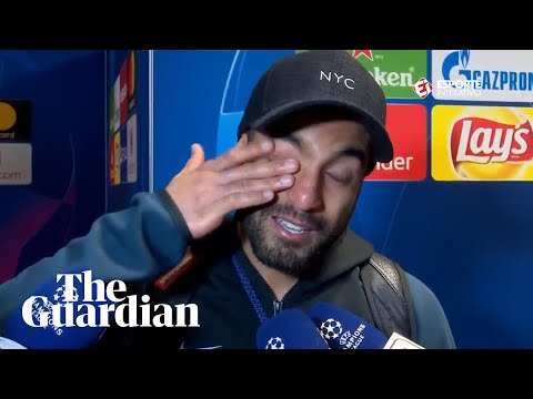 Lucas Moura cries after being shown footage of his match-winning goal