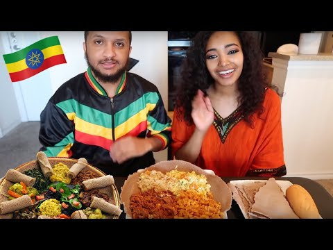 Ethiopian Food Mukbang Does the food in U.S. taste the same as Ethiopia? | Amena Teferi