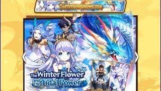 Dragalia Lost 6 Tenfold (60) Summons on The Winter Flower Tital Power Summon Showcase