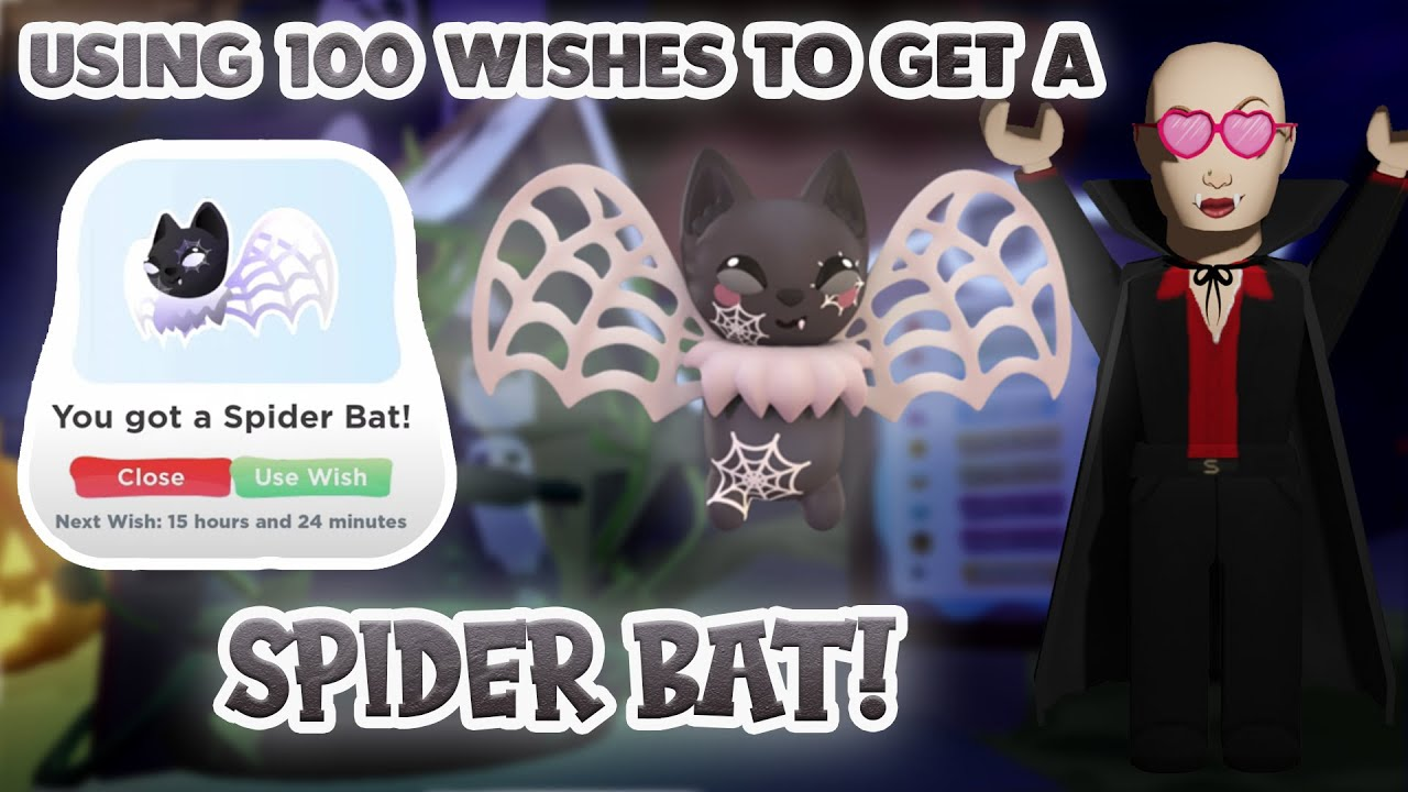 Download Using 100 Wishes To Get A SPIDER BAT in Overlook Bay | Roblox