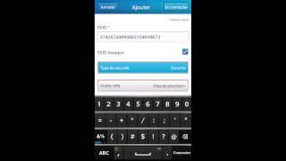 Configuration des connexions réseau sur un smartphone BlackBerry10
