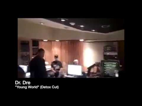 "Dr. Dre Plays Detox Record ""Young World"" In The Studio"
