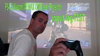 PS4 🎮 input lag TEST 🎮 Xiaomi WEMAX ONE MJJGYY01FM  Laser Projector